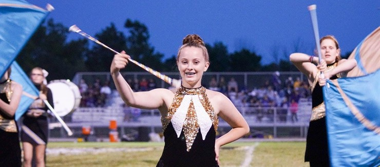 The Bomber Band provides an enthusiastic,powerful half-time show every Friday night!