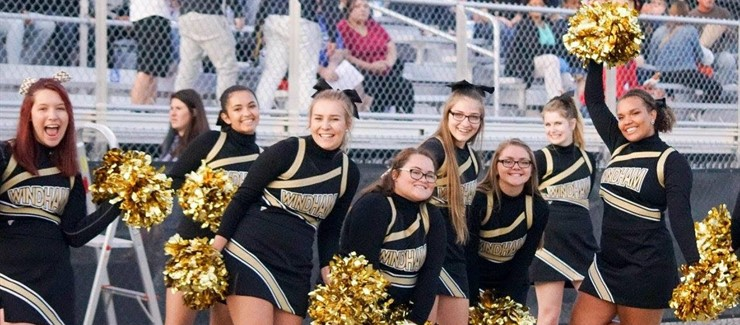 The Bomber cheerleaders cheer loud and proud to promote Bomber pride!